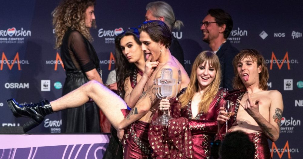 Måneskin, Eurovision 2021, conference
