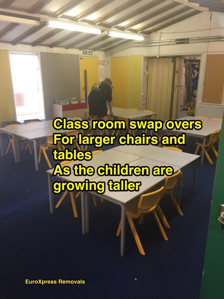 school removals swap overs
