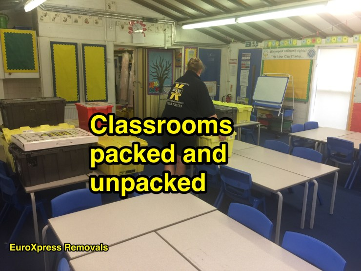 classrooms removals packed