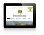 Tablet friendly of Euroxpress removals website