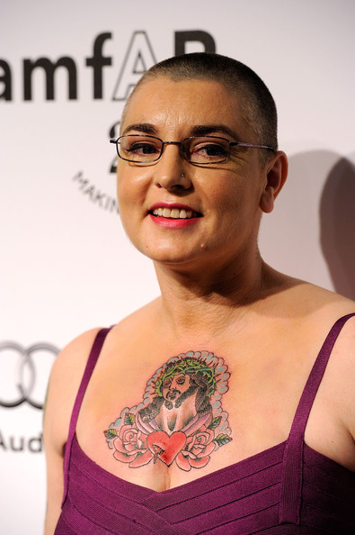 Singer Sinead O'Connor attends amfAR's Inspiration Gala at the Chateau Marmont on October 27, 2011 in Los Angeles, California.