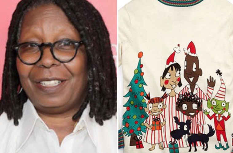 Whoopi Goldberg Christmas Sweaters.Lord Taylor Selling Funny Christmas Sweaters Designed By