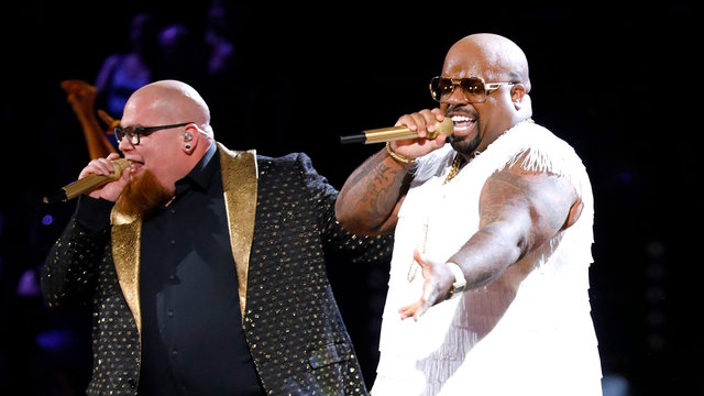 """Jesse Larson (L) and Cee Lo Green on """"The Voice,"""" May 23, 2017  (NBC)"""