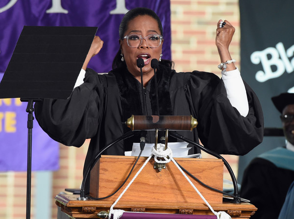Oprah Winfrey give the Commencement Address at Agnes Scott College on May 13, 2017 in Decatur, Georgia.
