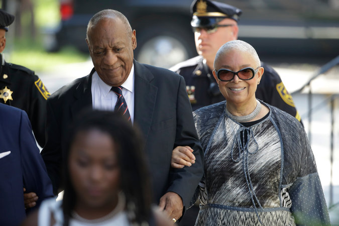 Bill Cosby arrived Monday for his sexual assault trial with his wife, Camille, at the Montgomery County Courthouse in Norristown, Pa. Credit Matt Rourke/Associated Press
