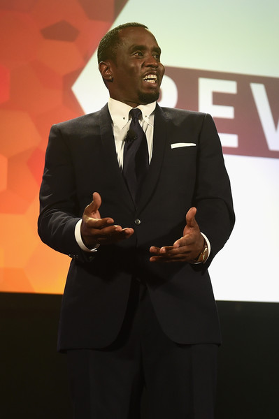 Sean P. Diddy Combs speaks onstage at the 34th Annual Walter Kaitz Foundation Fundraising Dinner at Marriot Marquis Times Square on September 27, 2017 in New York City.