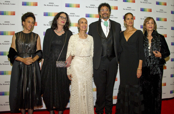 Carmen de LaVallade, son, Leo Holder, and their family, arrive for the formal Artist's Dinner honoring the recipients of the 40th Annual Kennedy Center Honors hosted by United States Secretary of State Rex Tillerson at the US Department of State on December 2, 2017 in Washington, DC.