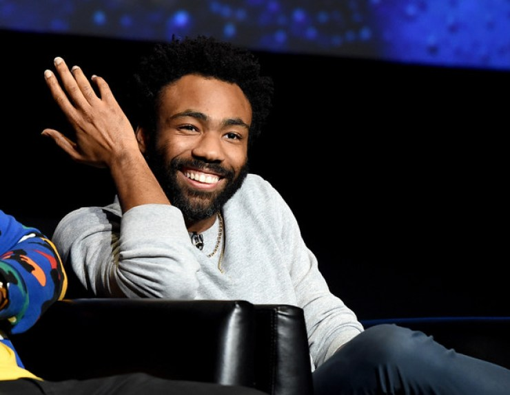 "Creator/executive producer/writer/director/actor Donald Glover speaks onstage at FX's ""Atlanta Robbin' Season"" FYC Event at the Saban Media Center on June 8, 2018 in North Hollywood, California."