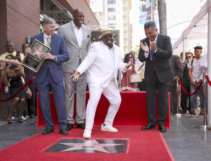 cedric the entertainer - walk of fame star - Leron Gubler Magic Johnson George Lopez