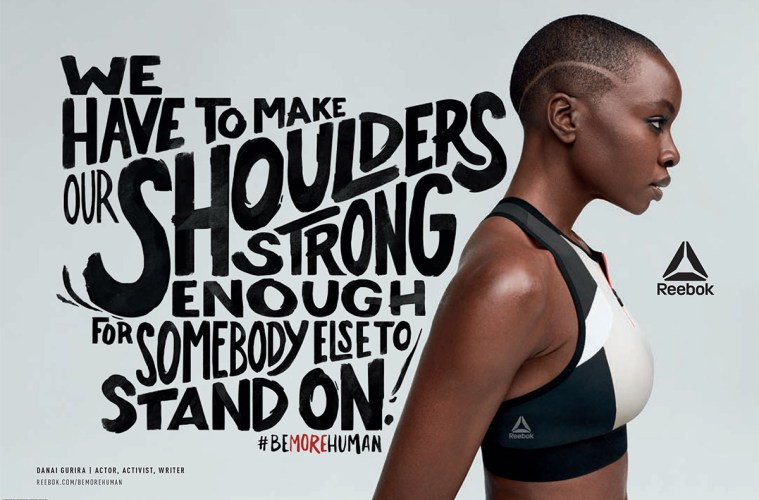 878fc09723b96  Black Panther s  Danai Gurira in Reebok s New Campaign Celebrating  Strong-Voiced Women (Watch)