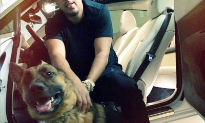 French-Montana-With-His-Dog