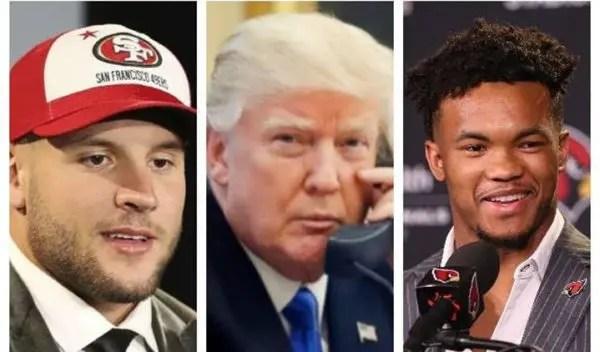 c91e74e04329c5 Outrage Over Trump Praising NFL #2 Draft Pick, Ignores Top Pick ...