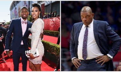 Paul George with girlfriend Callie Rivers, Doc Rivers