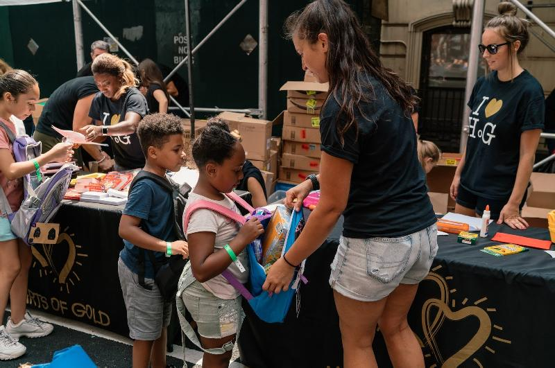 NYC Nonprofit Inspires 400+ Children at Hearts of Gold Back