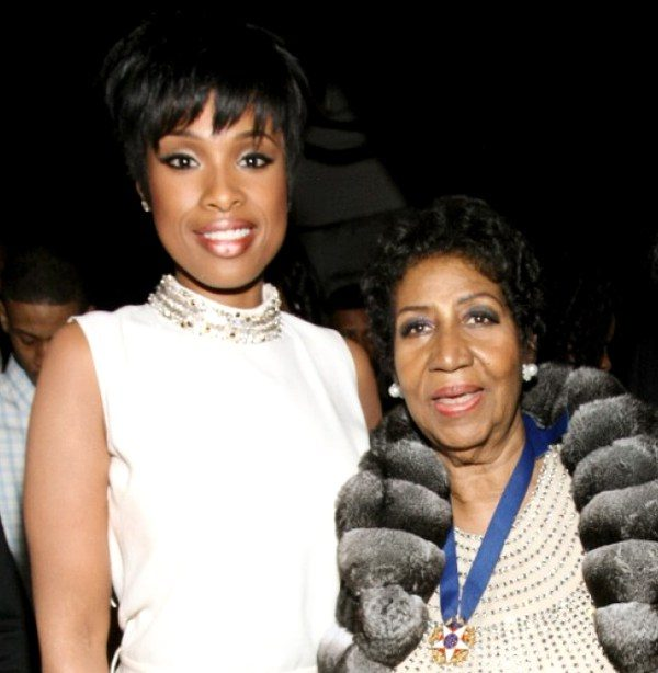 Jennifer Hudson & Aretha Franklin (getty)