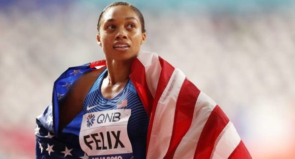 Image result for OLYMPIAN ALLYSON FELIX BREAKS USAIN BOLT RECORD FOR MOST GOLD MEDALS