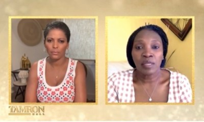 "Tamron Hall from her home in New York speaks with Wanda Cooper-Jones via ""Cyber Hall"" on Monday's ""Tamron Hall"""
