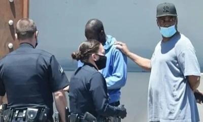 Denzel & black man & police