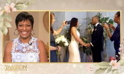 Tamron Hall officiates wedding