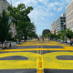 "The city of D.C. painted ""Black lives matter"" onto 16th Street NW, which leads to the White House (Getty/Daniel Slim)"