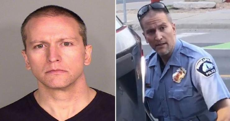 derek chauvin-mugshot and as cop