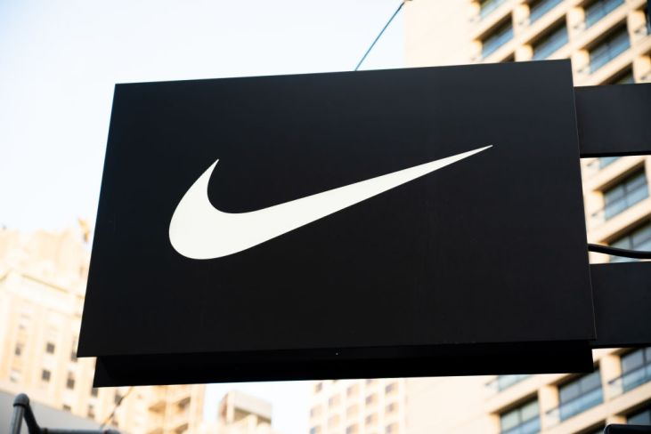American multinational sportswear manufacturer Nike logo