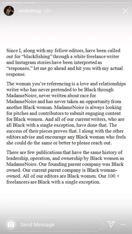 MadameNoire Culture Editor Veronica Wells