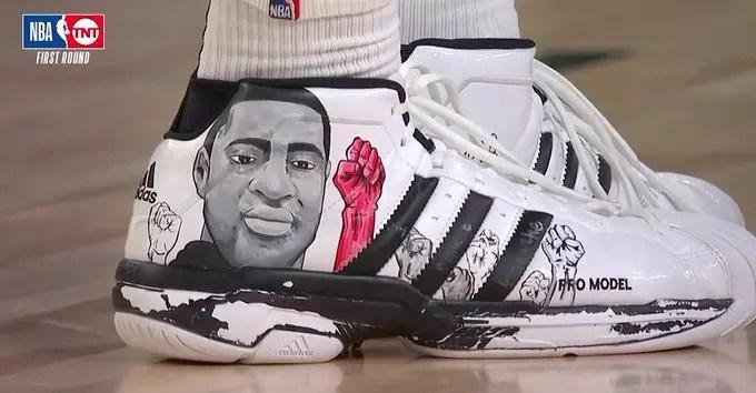 jamal murray's george floyd sneakers