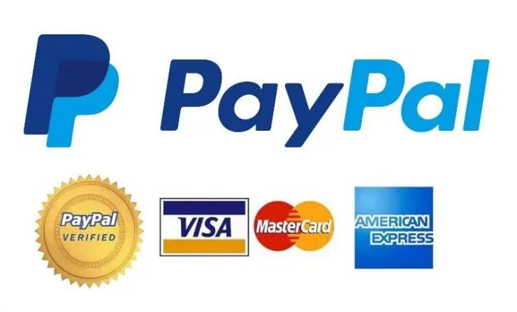 paypal & credit card logos