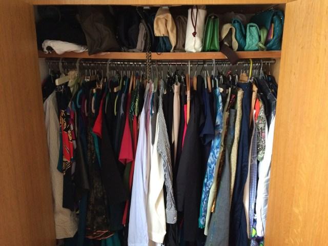 photo of my wardrobe