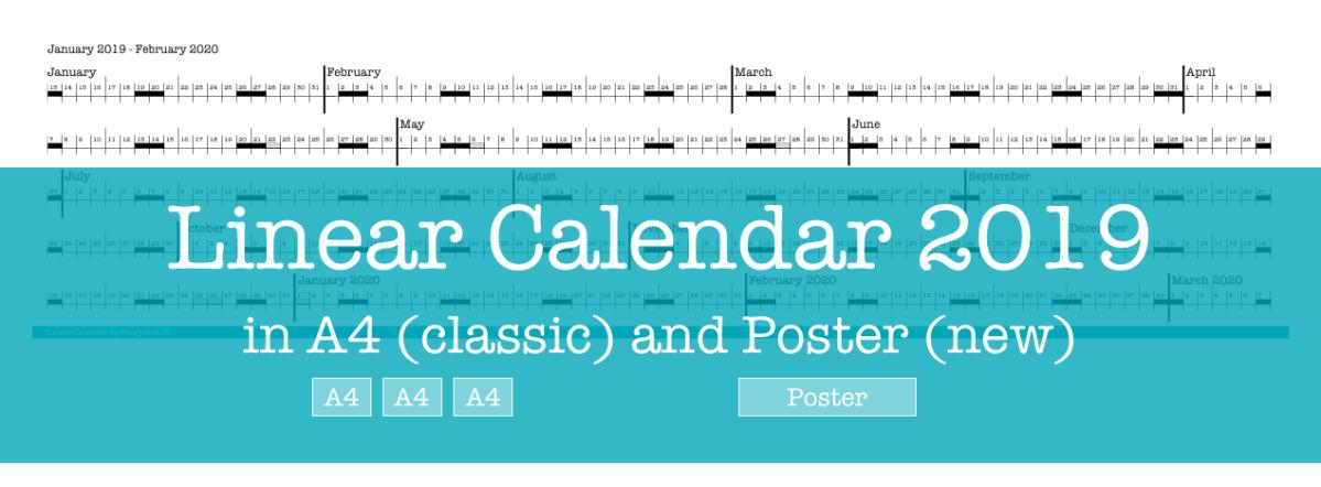 Linear Calendar 2019
