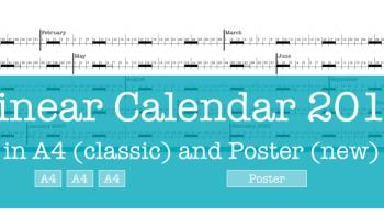 Linear Calendar Jan 2018 – Feb 2019 – Sophia Exintaris