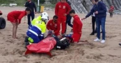 Testada con éxito la coordinación de servicios para atender emergencias en las playas de Bizkaia,