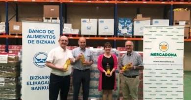 Mercadona entrega 3.000 kilos de productos al Banco de Alimentos de Bizkaia,
