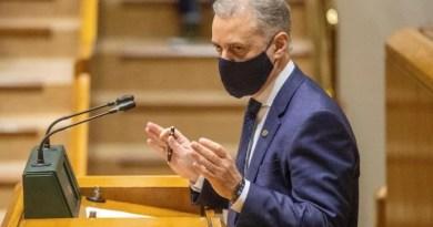 Urkullu insiste en que el toque de queda no se puede recuperar sin una declaración del Estado de Alarma,