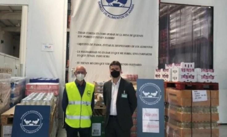 Mercadona dona más de 7.000 kilos de productos de primera  necesidad al Banco de Alimentos de Araba,