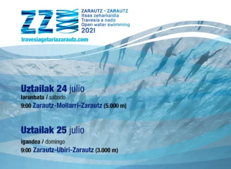 La travesía Getaria-Zarautz se transforma para adaptarse a las restricciones,