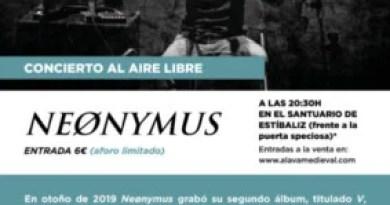 Neønymus ofrecerá un concierto en el monasterio de Estíbaliz,
