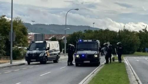Incidentes en el desalojo del gaztetxe en el barrio de la Rotxapea de Iruña,
