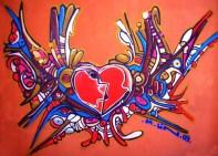 Graffiti no Espaço BH Cidadania do Morro do Papagaio.
