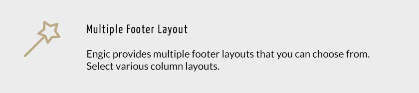 Multiple Footer Layout
