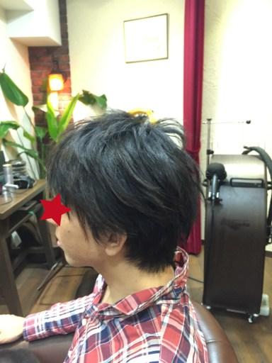 男性(メンズ)の縮毛矯正 アフター