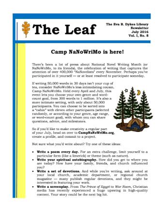 July newsletter full