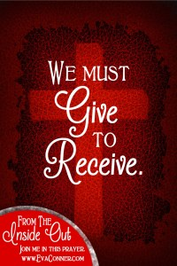 We must give to receive.