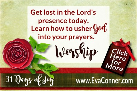 Get lost in worship today! 31 Days of Joy - Day 3