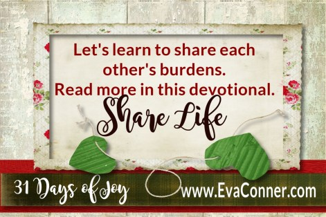 31 Days of Joy - Day 5 Share Life with Others