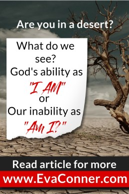 "Are we seeing God's ability as ""I AM"" or our inability as ""Am I?"""