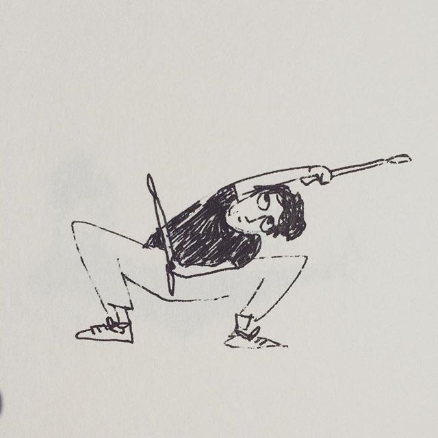 Day 10 / 100. Can't say I'm entirely convinced by my recent attempts at a healthy and balanced lifestyle. Not entirely comfortable jumping around on music with a group of strangers at the gym. #100dayproject #100daychallenge #100daysofdrawing #drawingeveryday #gellpen #doodle #diarydrawing #fitbeats