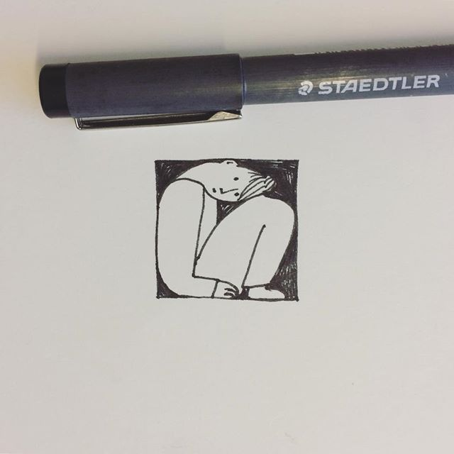 Squeezing in a tiny drawing anyway. #JohnVernonLord #DrawingaDay @illustrationhq.
