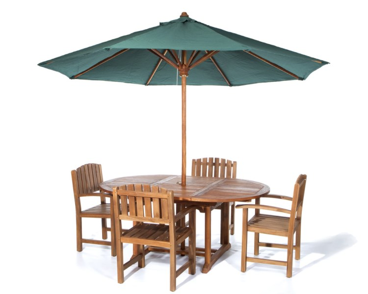 Patio Table Set with Umbrella   EVA Furniture Patio Table Set with Umbrella
